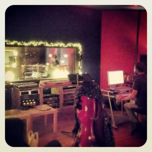 Recording with Ben McAuley in Start Together Studios, Belfast.