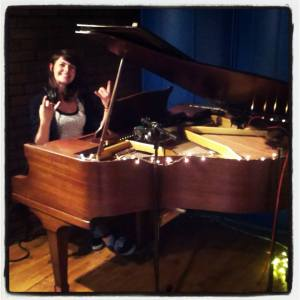 Shauna (me) rocking the piano